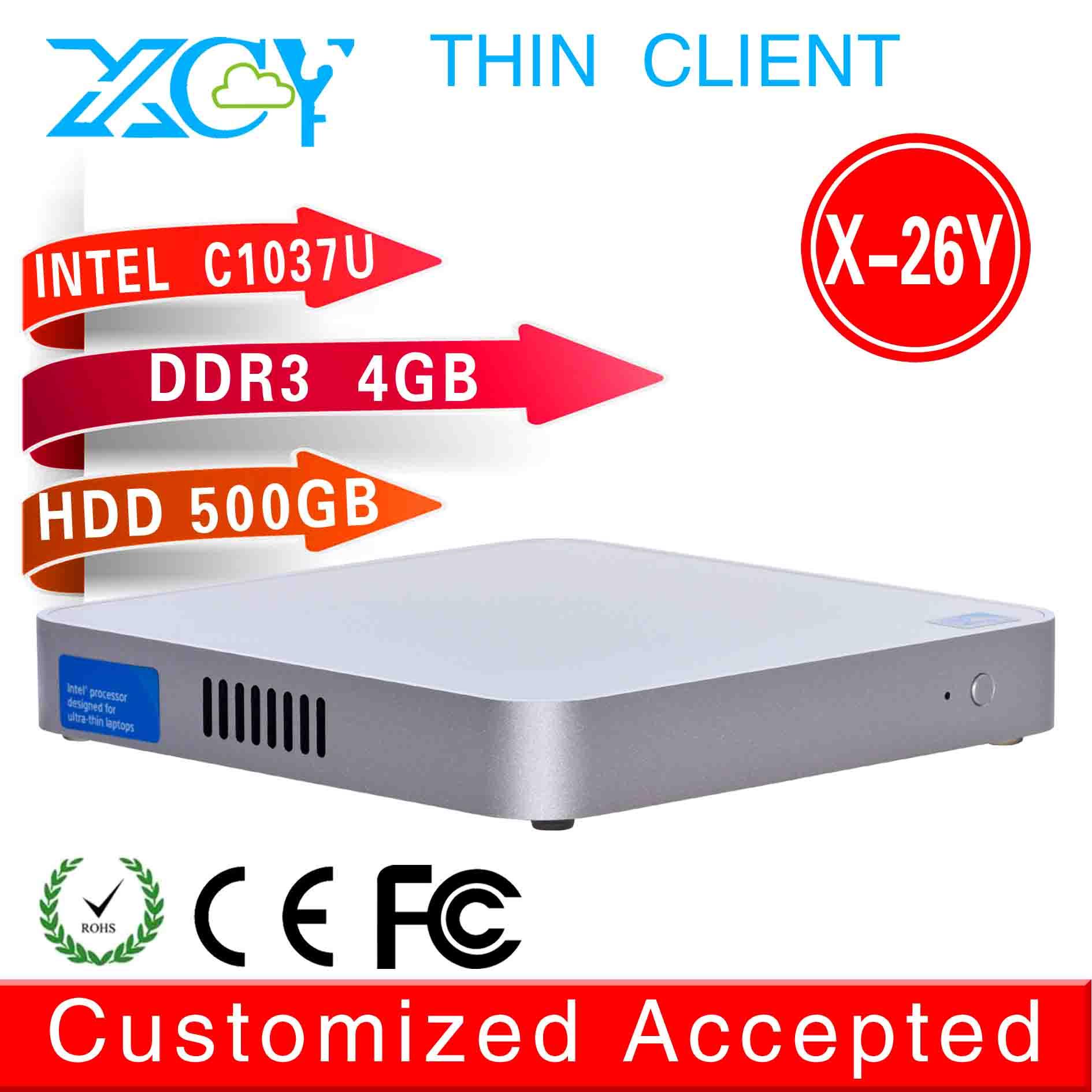 mini itx pc home server thin client X-26Y C1037U 4G RMA 500G HDD support Linux OS Ubuntu The cheapest(China (Mainland))
