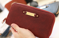 2014crocodile pattern brief design fashion japanned leather women's wallet