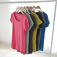 spring 2014 Plus size basic shirt women summer 2014 100% cotton t-shirt female short-sleeve t-shirts