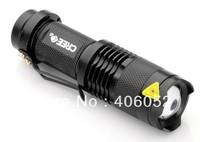 wholesale 14500 LED Torch flashlight ultrafire led flashlight e17 zoomable 7W 300LM mini led flashlight cree q5 100pcs/lot