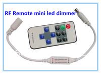 Mini RF Wireless Remote Led Dimmer Controller For Single Color Led Light Strip 10set/lot