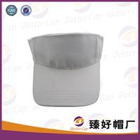 logo service 100% cotton white color sun visor hat visor cap