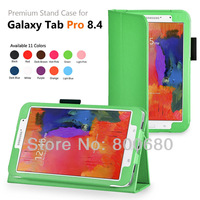 New Product stand leather cover case for Samsung Galaxy Tab pro 8.4 SM-T320 leather case 100pcs/lot 11 colors free shipping