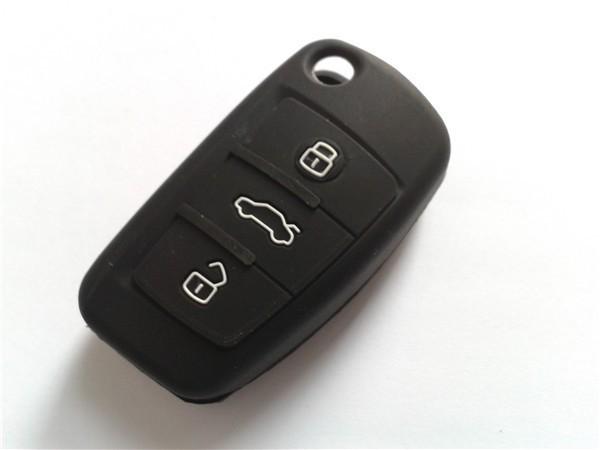 10pcs/lot fashion car key silicone case smart car key wallet for key Audi A6L T T Q7 for man and women(China (Mainland))