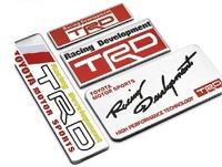 1PC Personalized Metal Sticker Refitt For Mark X Camry Corolla Metallic TRD Car Body Door Tail Decor