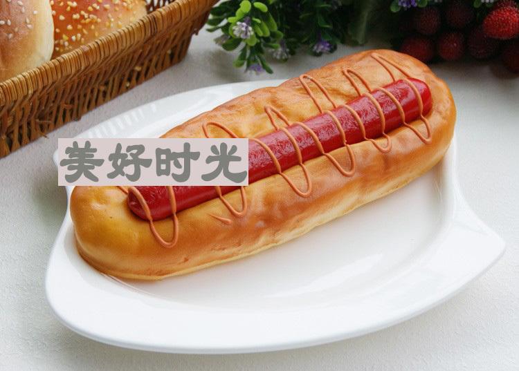 High real hot dog buns false simulation ham bread home furnishings bread stalls hotel props model(China (Mainland))