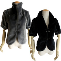 Original brand shrug women fur coat jacket high quality thermal ! wool glossy smoothens faux leather wool outerwear female