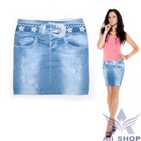 2014 Hot Selling Retail High Quality Women's Bodycon Skirt Jeans Elastic Pencil Denim Skirts for Women Cheap New Plus Size 20190