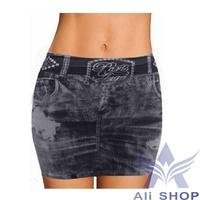 2014 Summer Trendy Jeans Skinny Elastic Women Denim Style Skirts Female Fashion Short Sexy Mini Skirts Saias Free Shipping 20189