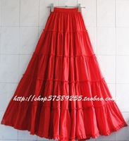 Spring 2014 Women's Bohemian Patchwork Pleated Long Full skirts female Free Shipping ! D004
