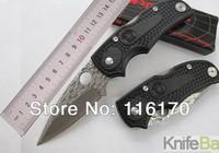 SPYDERCO F22 Survival Small Pocket Folding Knife 56HRC 440C Fiber Plastic Handle Mini knives Like Damascus pattern camping tools