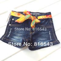 6 PCS/LOT Brand kids jeans 2014 new Summer children's jeans Fashion girls jeans unique design High quality