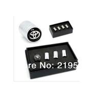Toyota Emblem Great Quality Metal Wheel Tire Valve Caps For FJ200,Highlander,Prado, Camry, Reiz,Klugar,Corolla