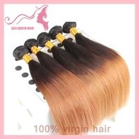 Brazilian Virgin Hair Ombre Straight Human Hair Top Grade GALI Queen hair No Tangle No Shedding 3pcs/lot Freeshipping