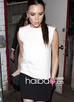 2014Victoria Beckham Star Style Ladies 'Fashion Patchwork Slim Mini Dress Womens' Dress LST0228