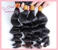 100% Human Virgin Hair Brazilian Virgin Loose Wave Hair 5A Grade Top Quality GALI Queen Hair 3pcs/Lot DHL free shipping