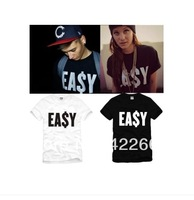Fast delivery ! spring 2014 top tees ea$y money OBEY Super man Short Sleeve T-Shirt 3d shirts 100% Cotton easy supreme huf