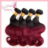 Brazilian Ombre Hair 3pcs/Lot Color NO.530 Body Wave Hair Weave GALI Queen Hair 5A Grade Hair DHL freeshipping