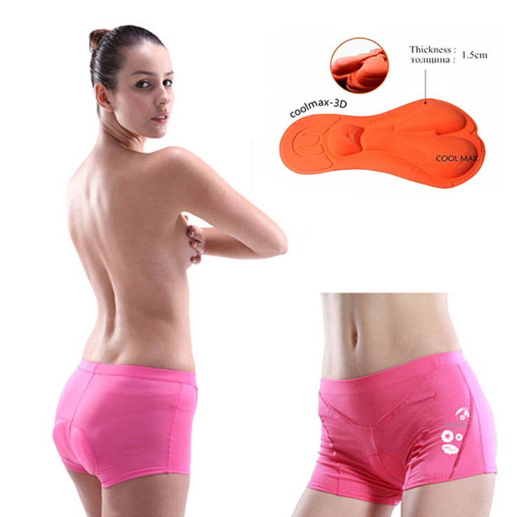 New Sports Female Cycling Underwear 3D Padded Bike/Bicycle Shorts/Pants S-3XL Outdoor Pink Sponge Comfortable Briefs YP0208-04A(China (Mainland))