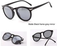 Free shipping(2pcs/lot)F29 For men&women retro plastic frame reflective sunglasses/frog mirror sunglasses