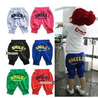 free shipping kids clothing candy color bloomers pants 100-140 5pcs/lot cotton pants for baby clothing