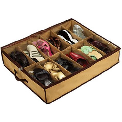 1pc Free Shipping Fabric 12 Pairs Shoes Storage Bag Box Holder Organizer Case Dustproof Intake Hot FZ1097(China (Mainland))