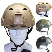 Cheap-level  PJ Type Tactical Fast Helmet with Side Rails and NVG Mount  For Outdoor Sports Airsoft Paintball Movie Prop