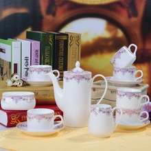 Free shipping, Bone china coffee cup set fashion brief coffee set coffee isonuclear allocytoplasmic tea set