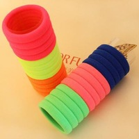 2014 NEW+100pcs/lot+Foreign Trade Single+Candy Fluorescence Color+Elastic Hair Band/Head wear for lady,Great Durability