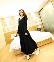100% Good Quality Thickening Spring pregnant floor length dress clothing maternity dress nursing pregnant plus size cotton dress