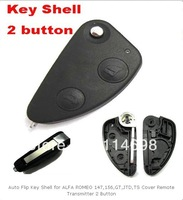 Auto Flip Key Shell for ALFA ROMEO 147,156,GT,JTD,TS Cover Remote Transmitter 2 Button    with free shipping