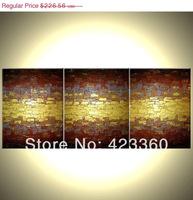 Original Abstract Metallic Painting, Textured Gold Painting, Textured Palette Knife Art, Fine Art  - 54x24