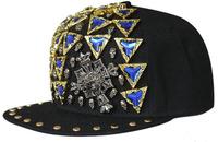 COOL 2014 Men Studded Punk Snap Backs Hat Women Baseball Caps Mens Flex Fit Rappers Cross Cap Spring Womens Autumn Snapback Hats