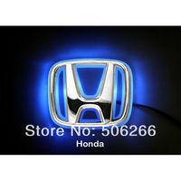 high quality car body stickers LED Car Tail Logo Blue light  Auto Badge Light