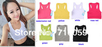 HOT SELLING 2014 Summer Women Sport Vest YOGA Tank Colorful Wrapped Chest 7 Colors Free Shipping