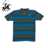 Cotton short-sleeve 100% T-shirt male child turn-down collar t-shirt male child polo shirt child stripe polo shirts