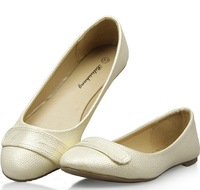 2014 NEW ARRIVAL Fashion Shining Women flats shoes for Lady & Beige,Black