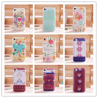 High Quality Cute Cartoon Elegant Flower Hard Plastic PC Case Back Cover For iphone4 4s