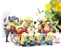 Free shipping New 14 pcs Despicable Me 2 Character Minions action Figure Doll Toy 3.8-6.5CM Retail