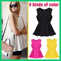 New 2014 Fashion sexy ladies knit chiffon pleated short dresses Free shipping