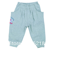 Free Shipping Hot Sale Babudog Kid's Brand Spring 2014 Children Pants,Retail Autumn Cotton Unisex Grey Harem Pants Kids Trousers