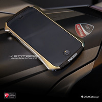 DRACO DUCATI Ventare Deff CLEAVE Motorcycle Racing Design Aviation Aluminum Bumper Metal Case for iPhone 5 5S Retail Packaging