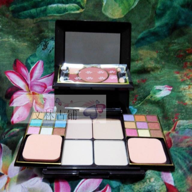 Mermaid dressing make-up set eye shadow blusher blush hihglights powder foundation(China (Mainland))