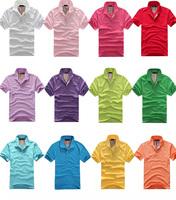 mens t shirts fashion new 2014 Cotton Multi-Color T Shirt Lovers' Sport Short Sleeve Plainmens t shirt shirts