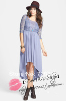 FP lace three quarter sleeve romantic one-piece dress