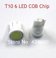 20pcs x T10 194 168 W5W 6led t10 cob led white 2W High Power LED Car Door Lamps Indicator Light Reading Light Bulbs red blue