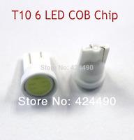20pcs x T10 194 168 W5W 6led t10 cob led white 2W High Power LED Car Door Lamps Indicator Light Reading Light Bulbs red blue