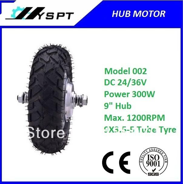 "9"" dc 48v e-car hub wheel motor(China (Mainland))"