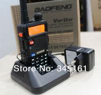 Free Shipping BAOFENG UV 5R UV-5r Dual Band 2-way Radio transceiver transmitter FM radio SOS flashlight with earphone for free