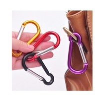 free shipping 200pcs/lot 5# Mountaineering Buckle Aluminum Climbing Carabiner Keychain Climbing Hook Fit Outdoor Use